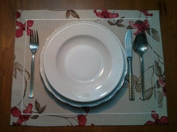 Placemat, Runner, Table Decor, Home, Gift, Table runner, Wedding Decor. Set of four.