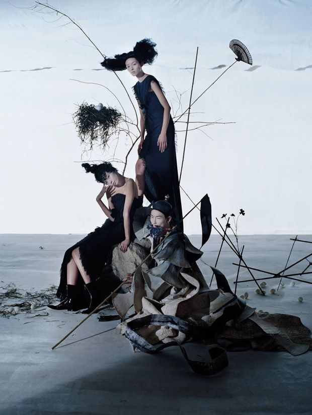 Fei Fei Sun and Xiao Wen for Vogue China by Tim Walker