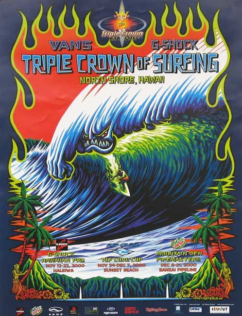 2011 Vans Triple Crown of Surfing Online Store - 2000 Triple Crown of Surfing Poster
