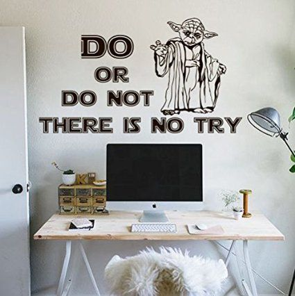 Wall Decals Do Or Do Not There Is No Try Jedi Master Yoda Quote Star Wars