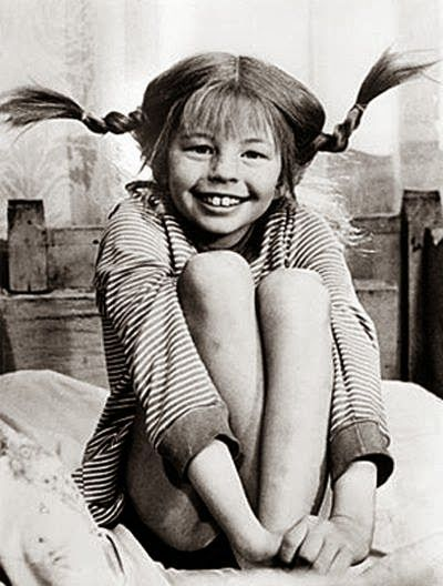 She is always effortlessly perfect head to toe . . . and forever the epitome of style trendsetter and my personal muse (even if she is a red head, ha!)--Pippi Longstocking!!