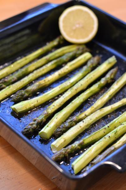 Uunissa paahdettua parsaa