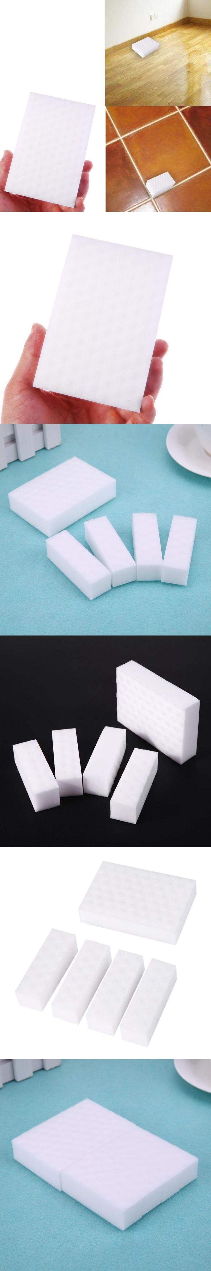 5pcs Cups Cleaning White Nano Magic Melamine Foam Melamine Sponge Bathroom Office Bottle Eraser Melamine Kitchen Cleaning Tool
