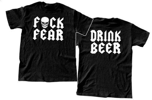 DRINK BEER  T-shirt Stone Cold Fear by ManicImpressive on Etsy