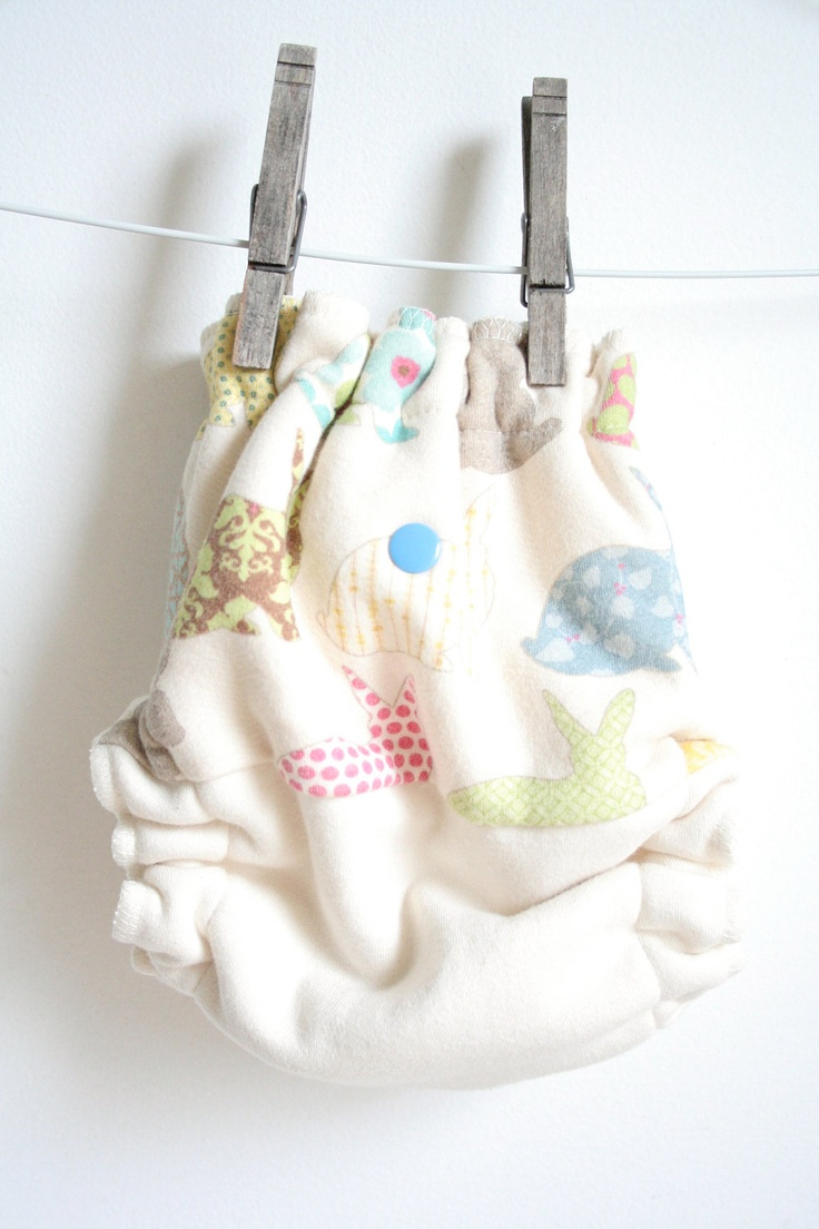 bunny rabbit // fitted cloth diaper // organic cloth diaper // one size fitted // hemp bamboo cotton diaper  // 100% organic diaper. $27.00, via Etsy.