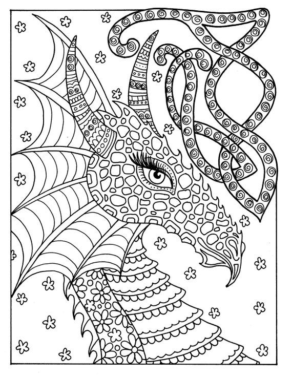 - Fairies And Dragons Coloring Book For All Ages Adults Kids Etsy Fairy  Coloring Pages, Dragon Coloring Page, Coloring Books