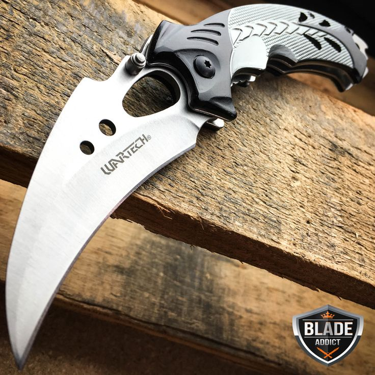 """8"""" GREY TALON Karambit Claw Tactical Spring Assisted Open Folding Pocket Knife"""