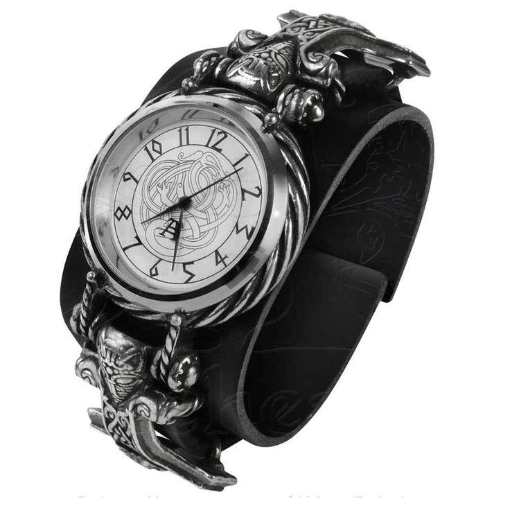 Alchemy Metal Wear THORGUD ULVHAMMER WATCH, Thor's Hammer VIking Wristwatch AW27 #AlchemyEmpire #Fashion