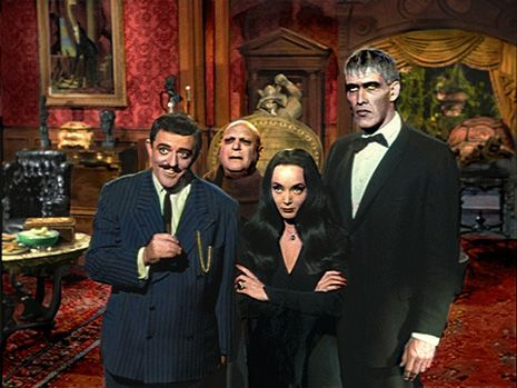A few years back there were a couple of color photos of The Addams Family  TV show  set making the rounds on social media. The thing most folks were instantly struck by was how very pink the Addams' living room was.          The show which ran for only two seasons, between 1964 and 1966, was shot in black-and-white, giving it a look very similar to the original black and white cartoon illustrations of Charles Addams' which appeared in the New Yorker.  Images from the show are ingrained in...
