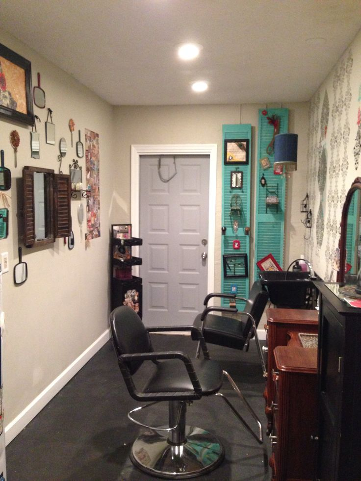 Home salon design home decor for Salon mobil home