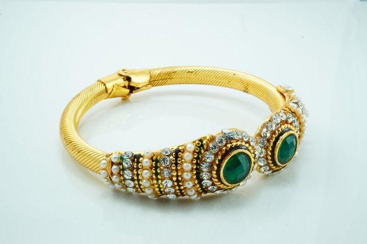 Bollywood Bridal Gold Plated Bangles Bracelet Kada Set Indian Fashion Jewelry #Handmade #Bangle