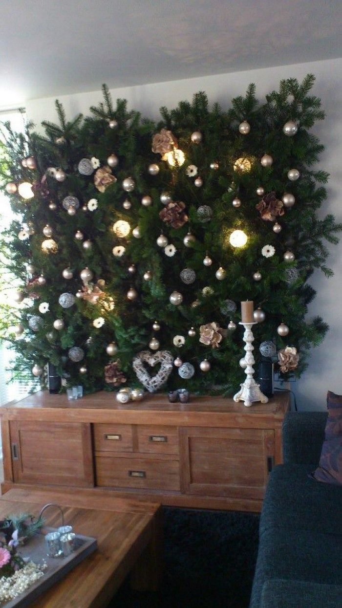 Kerstmuur 2012, een leuk alternatief voor de kerstboom.