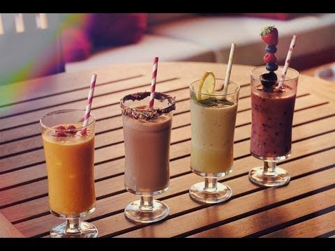 5 Healthy Breakfast Smoothies! - YouTube