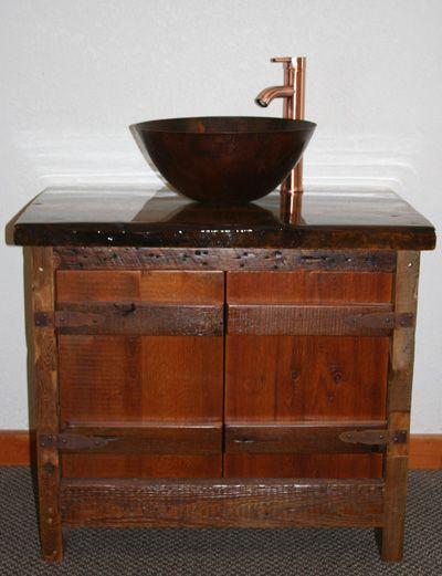 31 Best Rustic Distressed Wood Furniture Images On Pinterest Bathroom Vanities Bath