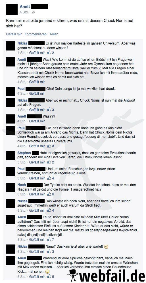 In der Schule mit Chuck Norris - Facebook Win des Tages 29.11.2014 | Webfail - Fail Bilder und Fail Videos