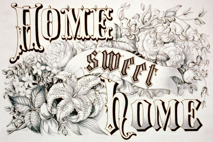 Home Sweet Home ~ Currier & Ives