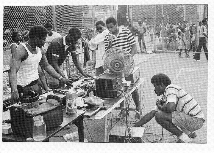 1973-DJ Kool Herc deejays his first block party at 1520 Sedgwick Avenue, Bronx, NY. Herc would often buy two copies of a record and stretch the break parts by using two turntables and mixing in both records before the break ends.