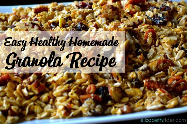 Easy Healthy Homemade Granola Recipe - ElizabethRider.com