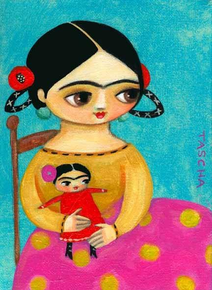 Frida with Frida Doll by Tascha Fridas, Fridas y más Fridas...... http://www.flickr.com/photos/tascha/with/7638512674/