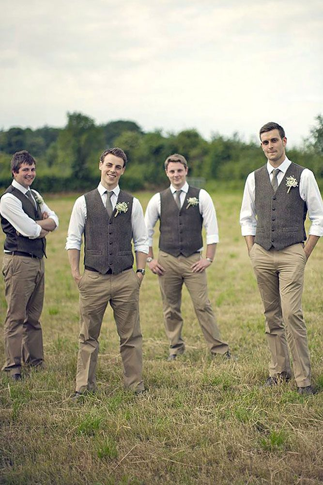 Casual Groom Attire with Vest _Other dresses_dressesss