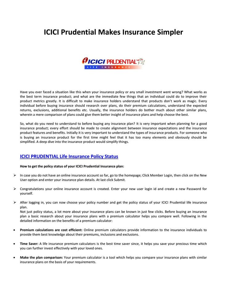 Best Insurance Plans Provided by the ICICI Prudential