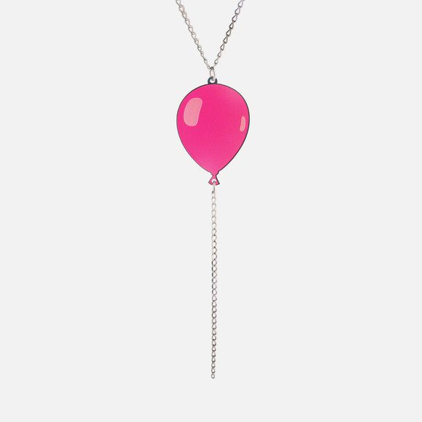 Balloon Necklace Pink