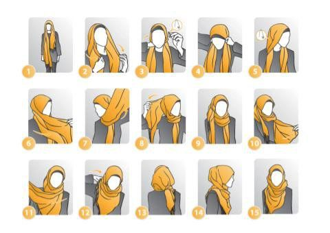 wearing hijab step by step