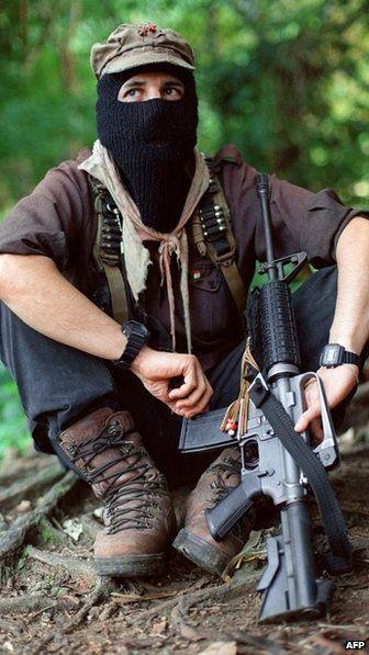 Subcomandante Marcos en Chiapas, 20 de Agosto 1997 foto AFP