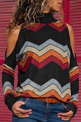 4d92dd4c5a High Neck Abstract Print Sweaters