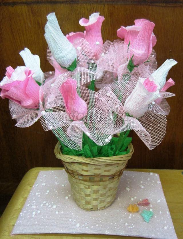 Свит-дизайн. Букет из сладких роз для мамы. Мастер-класс с пошаговыми фото