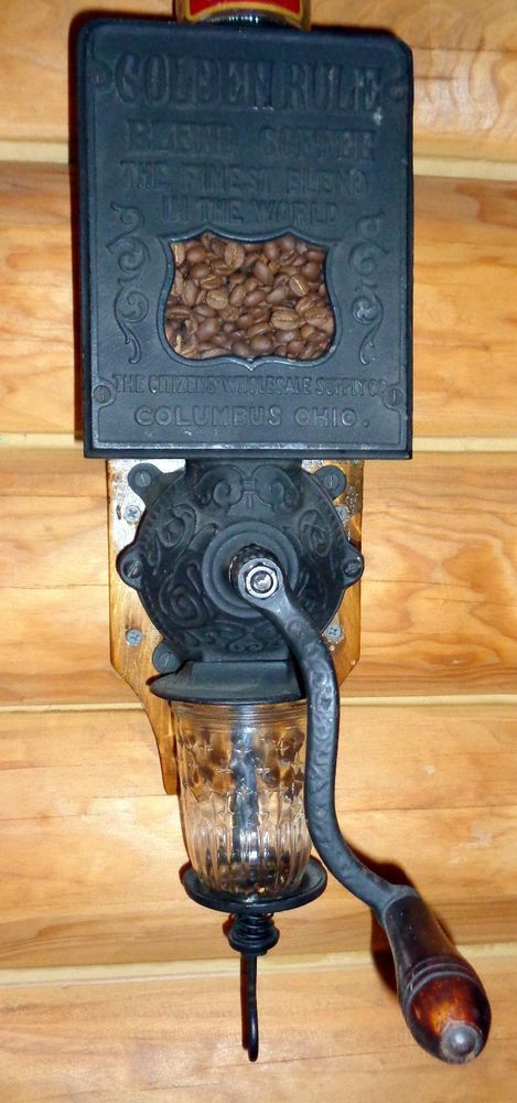 ANTIQUE ARCADE & GOLDEN RULE COFFEE GRINDER