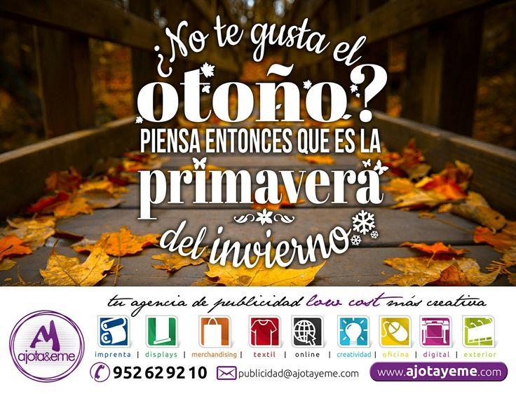 #Feliz #Miercoles #AjotAstuto, no esperemos tenerlo todo para disfrutar, nos toca un #Veroño y nos gustaría que por fin en #Otoño refresque... #CarpeDiem, ya llegará!!! Te dejo pensando con esta reflexión meditando.  Por cierto, queremos llevar nuestros diseños a todos los puntos de #España. #Huesca #Ibiza #Jaén #León #Lleida #Lugo #Madrid #Mayorca #Menorca #Murcia... Por eso, para cualquier necesidad en: #Camiseta #Creatividad #DiseñoGrafico #Display #Imprenta #ImpresionDigital #Marketing…