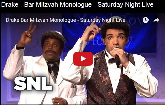 Watch: Drake - Bar Mitzvah Monologue - Saturday Night Live See lyrics here: http://drakelyric.blogspot.com/2016/04/bar-mitzvah-in-1999-lyrics-drake.html #lyricsdome