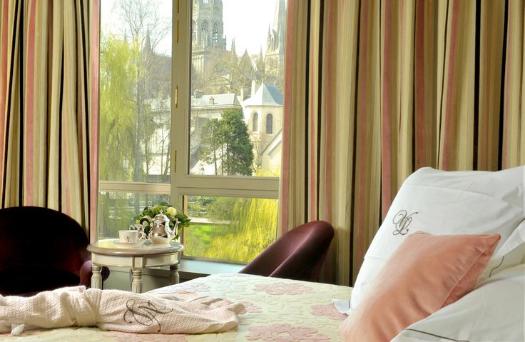 Room with a view at the #VillaLara #Hotel #Bayeux #Normandy #Omahabeach #DDaylanding #roomwithaview #cathedral #church #history #patrimoine