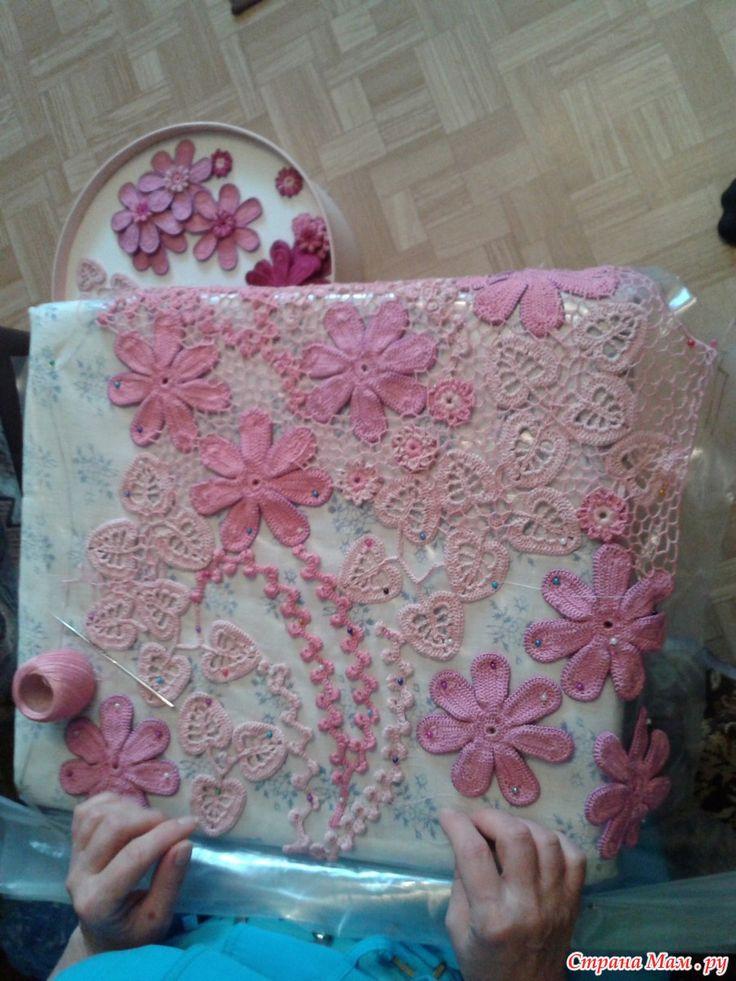 """*Платье """"Розовый зефир"""" или учусь ирландскому кружеву."""
