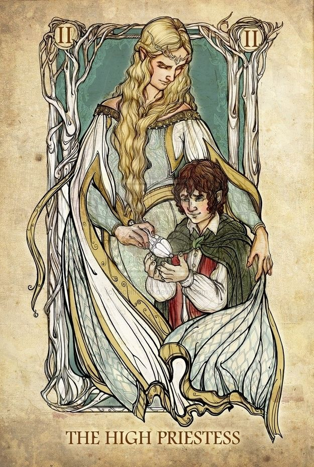 These Are The Lord Of The Rings Tarot Cards You've Been Dreaming Of. The High Priestess. Yeah, you know Galadriel would fit that role perfectly!