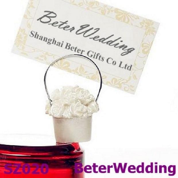 wedding decoration hot sale rose basket placecard holder as wedding souvenir wedding favor from reliable wedding gift favor suppliers