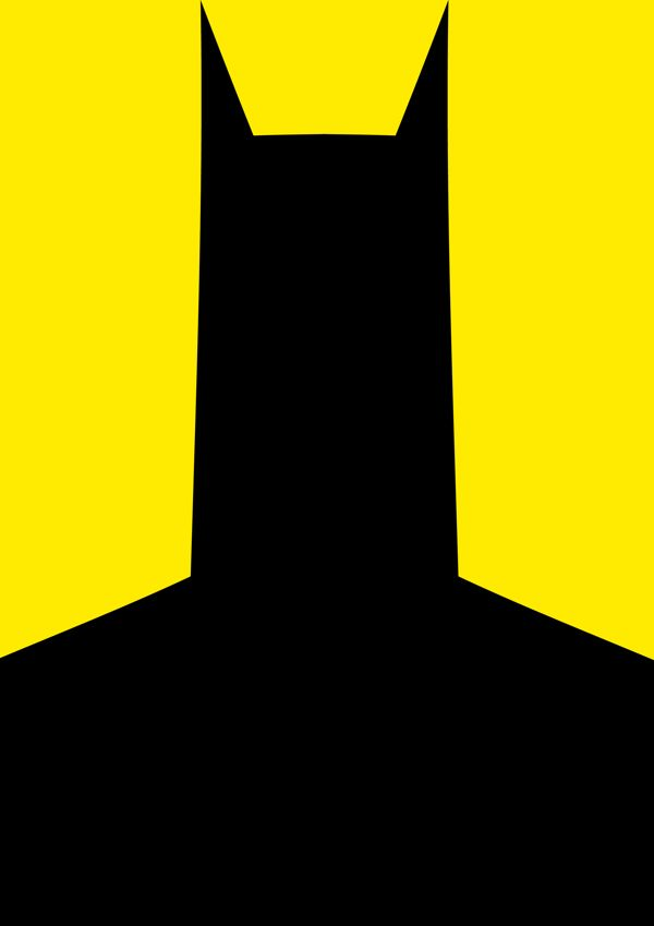 Batman Minimalist Super Hero Poster /// by Paul Wade, via Behance