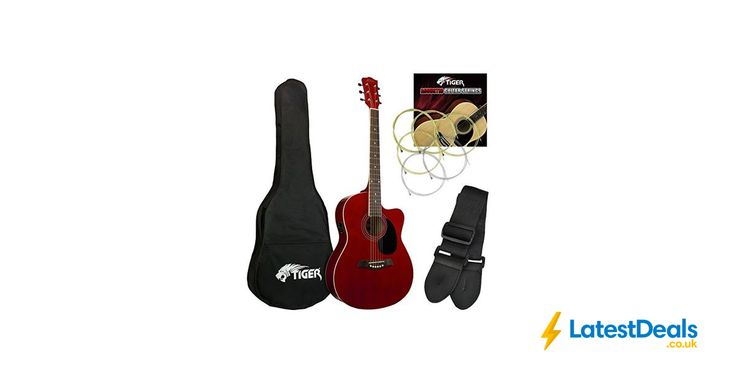 Tiger Red Electro Acoustic Guitar Pack Free Delivery, £66.95 at Amazon UK