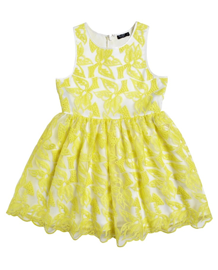 Fluro Lace Dress - Bardot Junior- idea for white lace material I have maybe with a coloured lining???