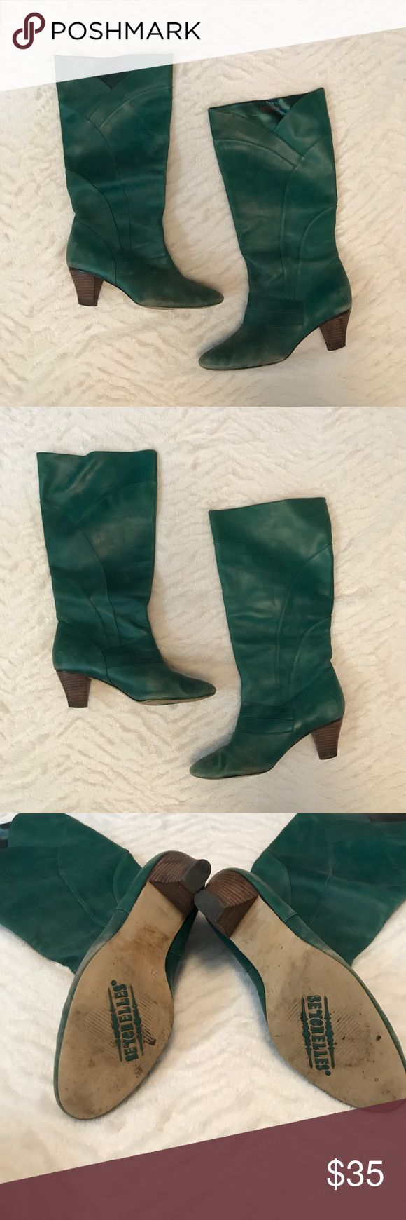 Turquoise Seychelles Boots Turquoise Seychelles boots size 7 1/2. In pre-loved condition. Always got tons of compliments when wearing these beauties! Please ask any and all questions. No trades or modeling. Offers welcome! Seychelles Shoes Heeled Boots