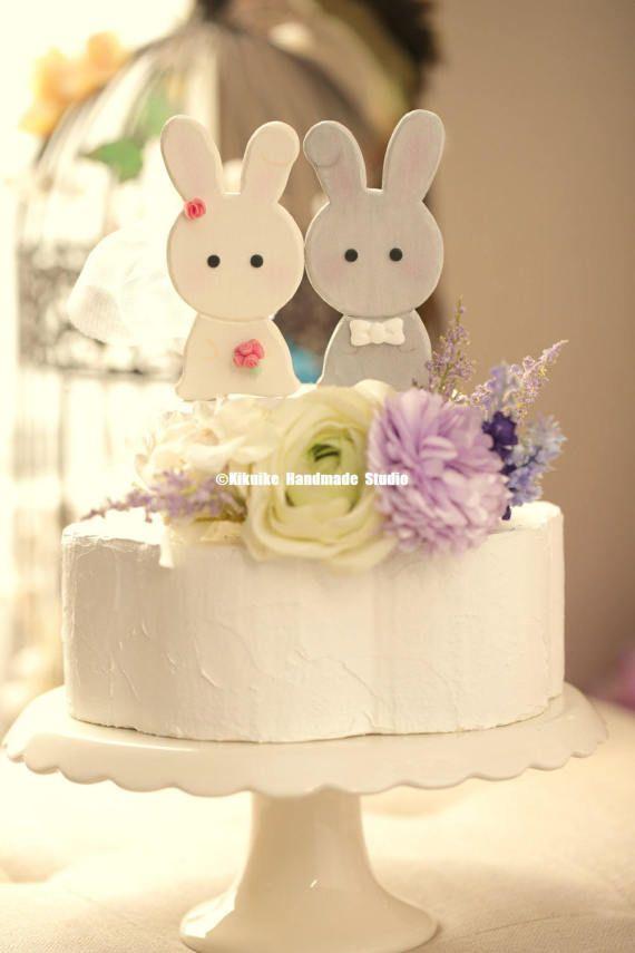 Bunny y topper de la torta de conejo pastel de cumpleaños de