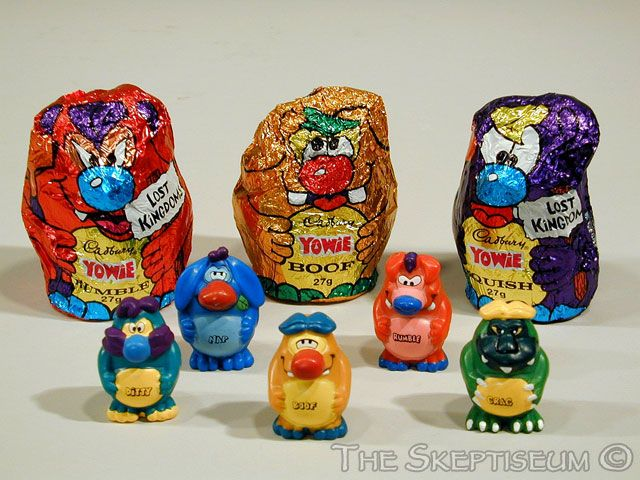 Yowie chocolates, featuring a build it yourself Australia animal inside. It's nearly too much joy.