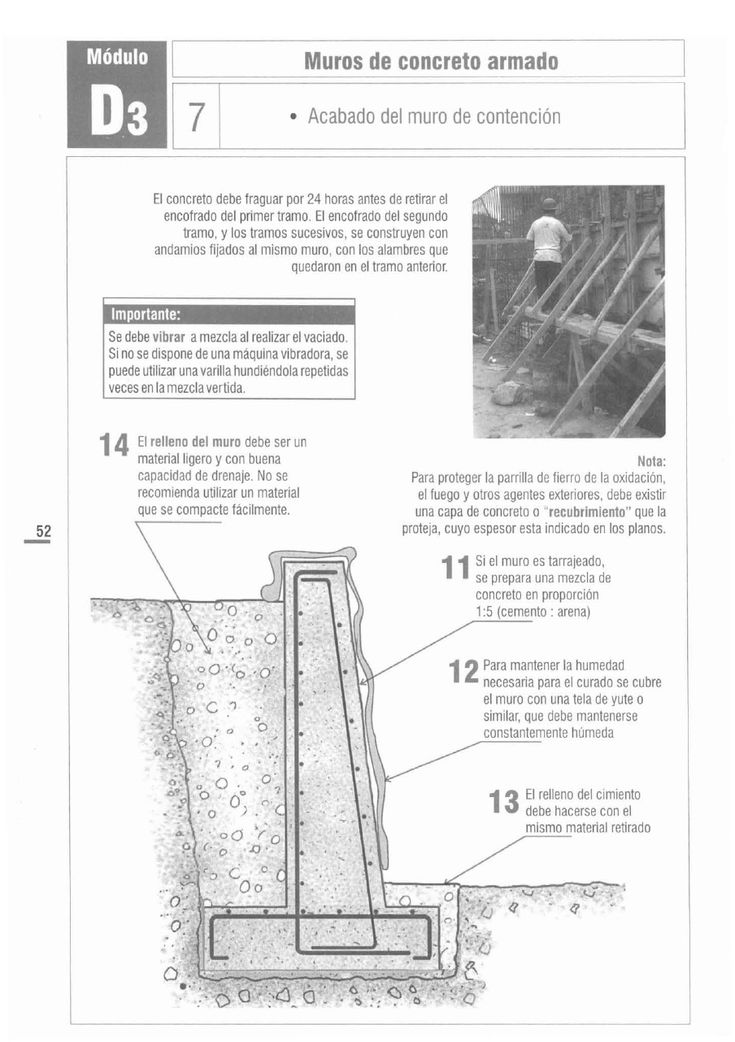 7 best muro de contencion en concreto armado images on for Muro de concreto armado