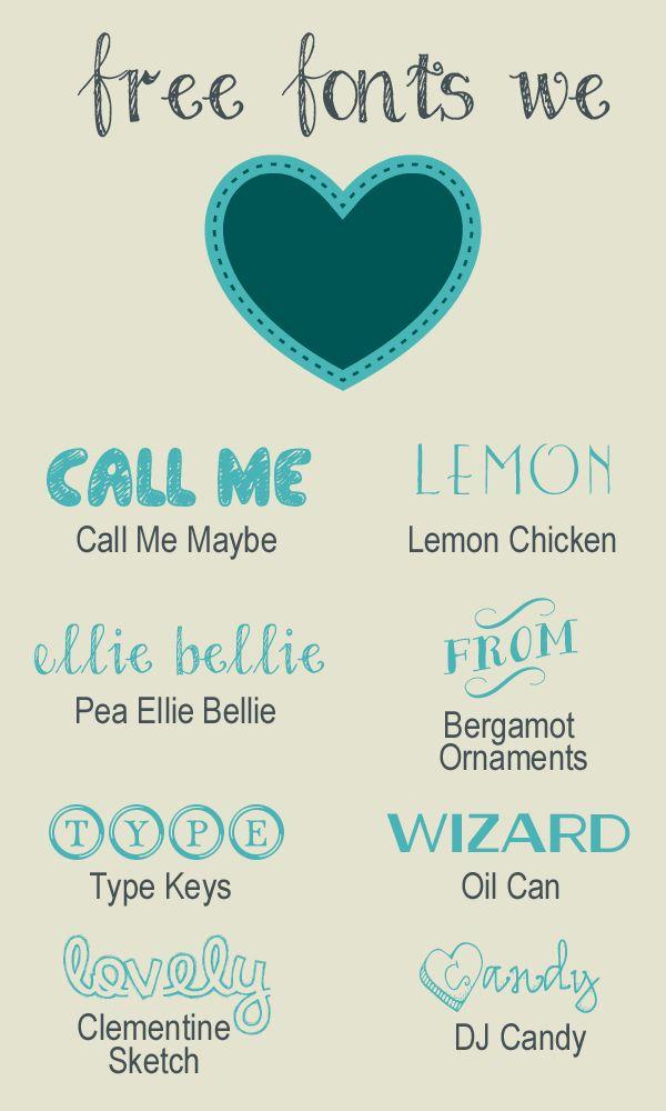 Free Fonts We Love