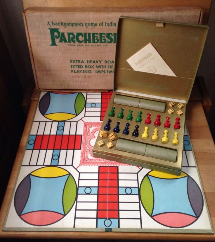 Vintage 1960's Parcheesi Board Game Selchow Righter