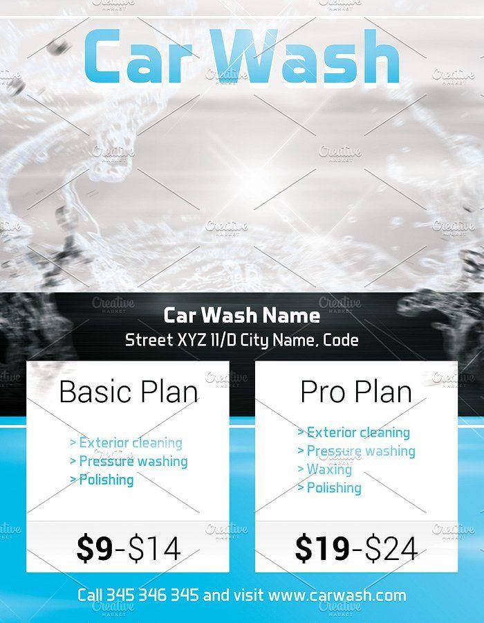 Car wash flyer template by krukowski graphics on creativemarket car wash flyer template by krukowski graphics on creativemarket maxwellsz