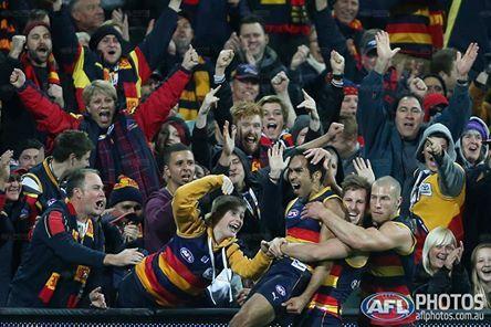 Eddie Betts, celebrating a magical goal