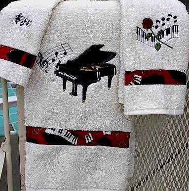 BABY GRAND PIANO TOWEL SET. #music http://www.pinterest.com/TheHitman14/music-paraphenalia/