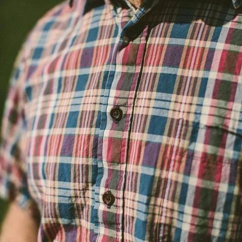 Taylor Stitch California Madras Shirt | Red